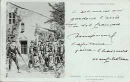 88 Domrémy - Le Salut Militaire Devant La Maison De Jeanne D'Arc 1902-03-13 TB - Domremy La Pucelle