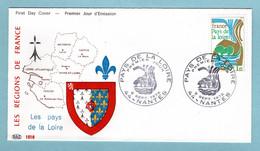 FDC France 1975 - France Pays De La Loire - YT 1849 - 44 Nantes - 1970-1979