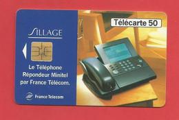 TELECARTE 50  U TIRAGE 2000 000 EX. France Télécom Sillage Répondeur Minitel ---- X 2 Scan - Telecom Operators