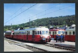 """Carte-Photo Moderne """"Autorails En Gare De Neussargues - Années 70"""" - Treni"""