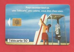 TELECARTE 50  U TIRAGE 1000 000 EX. France Télécom Une Télécarte Une Cabine ---- X 2 Scan - Telecom Operators