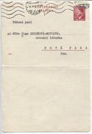Böhmen Und Mähren Ganzsache Kartenbrief K4 IIa Durchstochen 1942, Prag 23.2.44 - Storia Postale