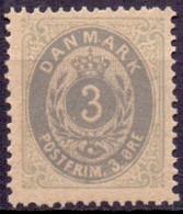 DENEMARKEN 1875 3öre Bi Coloured Type 28g Perf 14x13½ PF-MNH - Ungebraucht
