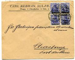 (C2) Sarre Lettre Avec 4 Mi 35 - Lettres & Documents