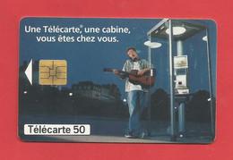 TELECARTE 50  U TIRAGE 4000 000 EX. France Télécom Une Télécarte Une Cabine ---- X 2 Scan - Telecom Operators