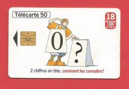 TELECARTE 50  U TIRAGE 2000 000 EX. France Télécom Numérotation à 10 Chiffres ---- X 2 Scan - Telecom Operators