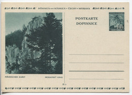 Böhmen Und Mähren Bildpostkarte P6 Bild 5 Mährischer Karst Ungebraucht. - Storia Postale