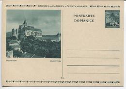Böhmen Und Mähren Bildpostkarte P6 Bild 6 Pernstein Ungebraucht. - Storia Postale