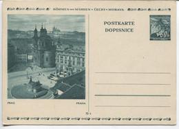 Böhmen Und Mähren Bildpostkarte P6 Bild 9 Prag Husdenkmal Ungebraucht - Storia Postale