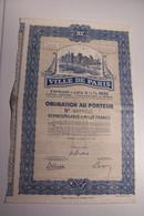 VILLE De PARIS  - EMPRUNT  A LOTS   - 1932 - Obligation - Pont D'Arcole -Hotel De Ville - Altri