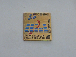 Pin's FRANCE TELECOM BASSE NORMANDIE, SUGGESTION, INNOVATION - France Telecom