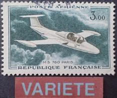 "R1118/302 - 1960 - POSTE AERIENNE - "" MS 760 PARIS "" - N°39 ☉ - VARIETE ➤➤➤ Bleu Absent - Varieteiten: 1960-69 Afgestempeld"