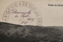 WWI- VALLÉE DE CELLES [88] Vosges CPA En FM Marcophilie-☛+CADM Guerre 14/18 Cachet Militaire 42 Génie D'étapes R8 1917 - Guerra De 1914-18