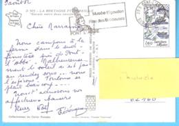 """Oblitération-Flier-""""Musée Bigouden-Fête Des Brodeuses-Pont-L'Abbé-Sud Finistère-1982-Timbre Saint-Pierre Miquelon YT2193 - Maschinenstempel (Werbestempel)"""
