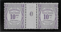 France Taxe N°44 - Paire Millésimée - Neuf * Avec Charnière - TB - 1859-1955 Neufs