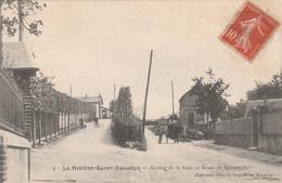 La Riviere Saint Sauveur - Avenue De La Gare Et Route De Geneville - Scan Recto-verso - Sonstige Gemeinden