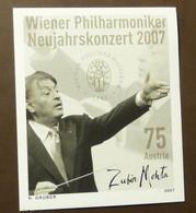 Österreich 2007 Schwarzdruck Wiener Philharmoniker       MNH Postfrisch **   #5350-6 - 2001-10 Nuevos & Fijasellos