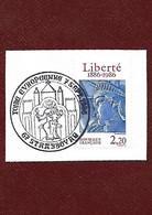 B23 Fragment Statue De La Liberté Oblitéré Foire Européenne De Strasbourg 07-09-1986 - Non Classés