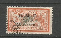 Timbre De Colonie Française Syrie Oblitéré N 72 - Usati