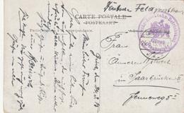 Givet Occupation Cachet Allemand Sur Carte Postal Le 26.3.15 - WW I