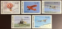 Sierra Leone 1987 Pioneers Of Flight Transport Aircraft Aviation MNH - Sierra Leone (1961-...)