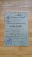 "LIVRET   ALLEMAND   "" Deutcher Reichskriegerbund "" ( Association De Guerre Du Reich Allemand ) 1936 Timbrée - Documents"