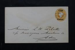 INDE - Entier Postal Type Victoria Pour Aden En 1902 - L 74932 - 1882-1901 Empire