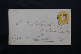 INDE - Entier Postal Type Victoria Pour Londres En 1889  - L 74935 - 1882-1901 Empire