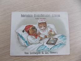 Reclame Kaart Nederlandsche Stoomkoffiebranderij Antwerpen Van Leckwyck & Co Anvers - Tea & Coffee Manufacturers