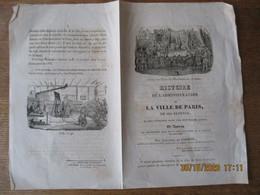HISTOIRE DE L'ADMINISTRATION DE LA VILLE DE PARIS 1835 PAR ALEXANDRE DE LABORDE PREFET DE LA SEINE EN 1830 PRESIDENT DU - Advertising