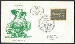 LA619   Ersttag Brief 50 Jahre Postauto 1957 - FDC
