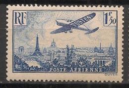 France - 1936 - Poste Aérienne PA N°Yv. 9 - Avion 1f50 Bleu - Neuf Luxe ** / MNH / Postfrisch - 1927-1959 Postfris