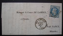 Vic-sur-Seille (Meurthe) 1869 Gc 4188,  Lettre Pour Le Comte De Lambel à Fléville - 1849-1876: Classic Period