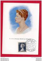CP (Réf : B 641)  Timbres (représentations) S.A.S. La Princesse GRACE DE MONACO - Francobolli (rappresentazioni)