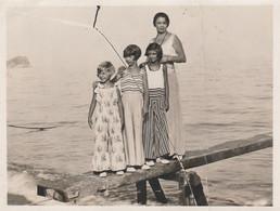 9748 Eb. Vintage Foto Photo Donna E Tre Ragazze Spotorno 1932 - 11x9 - Luoghi