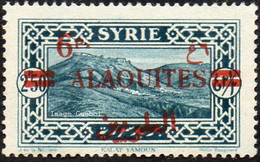 Alaouites - N° 38 * Site Ou Monument - Kalat Yamoun Surchargé 6pi - Unused Stamps
