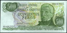 ♛ ARGENTINA - 500 Pesos Nd.(1977-1982) {series C} UNC P.303 C - Argentina