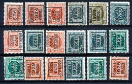 BELGIE - PRECANCELS - Typo - Selectie  Nr 504 - Zonder Gom/sans Gomme - Unclassified