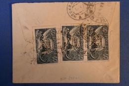 G6 RUSSIE BELLE LETTRE RARE  1922 MOSCOU  POUR L ALLEMAGNE + PAIRE DE T.P. SURCHARGE - Briefe U. Dokumente