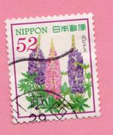2017 GIAPPONE Fiori Flowers Fleurs Lupin - 52 Y Usato - Gebruikt
