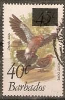 Barbados  1981 SG  683  Wood Dove  40c Overprint  Fine Used - Barbados (1966-...)