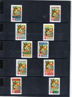 10 Timbres  Adhésifs (lettre Verte ..)   Oblitérés(2020) (LA CROIX-ROUGE FR.. ROBERT DELAUNAY. ) - Adhesive Stamps