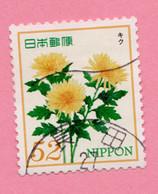 2015 GIAPPONE Fiori Flowers Fleurs Chrysanthemum - 52 Y Usato - Gebruikt