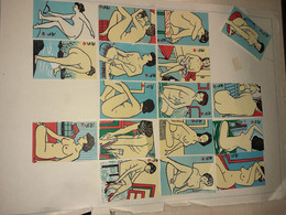 17x Erotic Matchbox Labels, Chinese, Match, Safety Matches, Label - Matchbox Labels