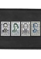 731-1958- Héros De La Résistance YT 1157 à 1160 Oblitérés - Gebraucht