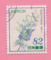 2015 GIAPPONE Fiori Flowers Fleurs Delphinium And Calla Lily - 82 Y Usato - Gebruikt