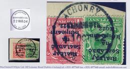 Ireland Sligo 1922 Rubber Climax Dater ACHONRY BALLYMOTE Co SLIGO 11 OCT.22 On Piece With Dollard - Ohne Zuordnung
