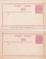 2 CARTES COLONIE ANGLAISE NEW  WALES  NOUVELLE GALLES 11.5 X 7.5 Grande Bretagne   , Entier Postal  United Kingdom - Altri