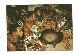 FIDJI. Yaqona Ceremony. (Yaqona, Cérémonie De Consommation De Kava). CPSM. Voir Description - Fiji