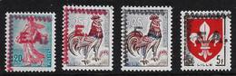 ALGERIE 1962 - YT1186/1233/1331** - SURCHARGES EA ROCHER NOIR - TYPE 1-370 - Algeria (1962-...)